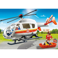 Playmobil City Life Emergency Medical Helicopter 6686