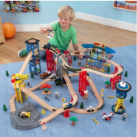 KidKraft Super Highway Train Set